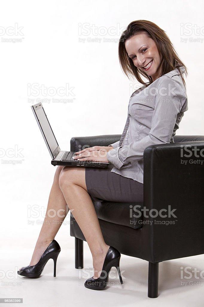 Attractive caucasian twenties businesswoman royalty-free stock photo