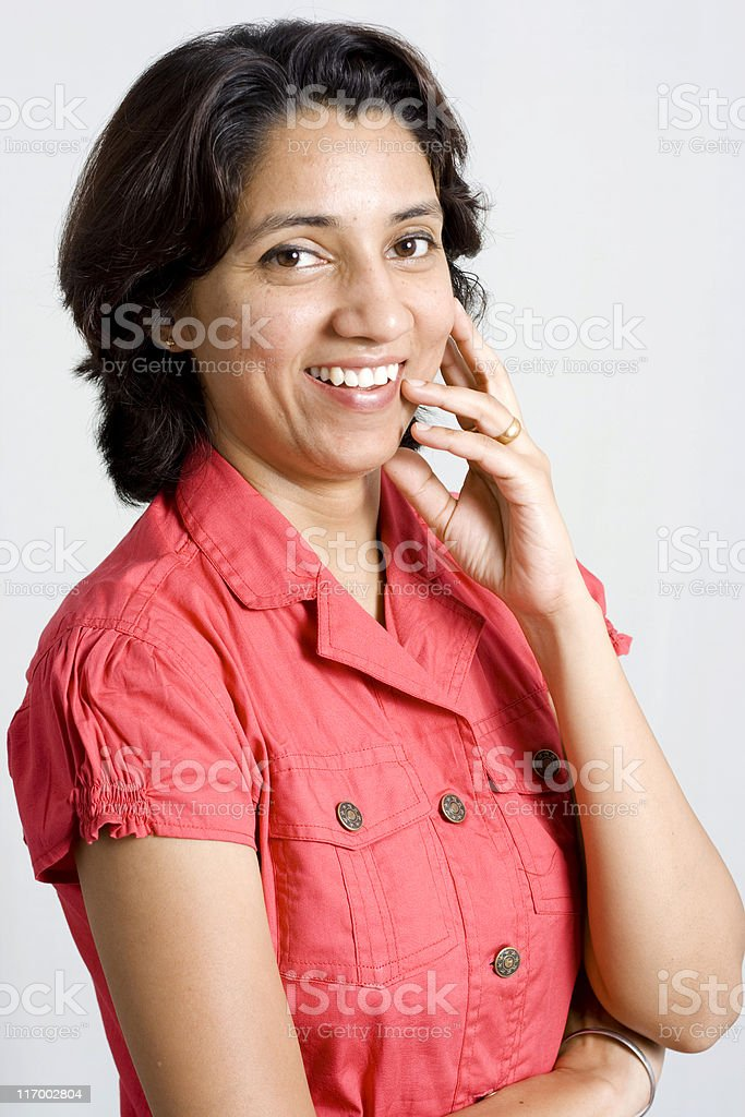 Attractive Cheerful Indian Woman royalty-free stock photo