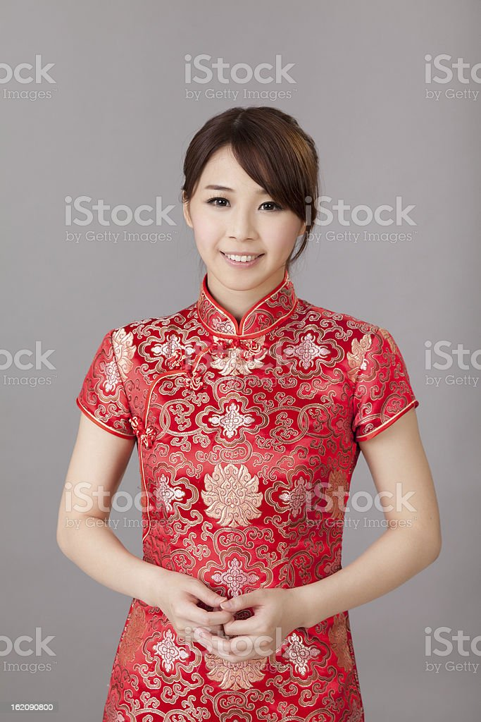 Attractive Chinese woman royalty-free stock photo