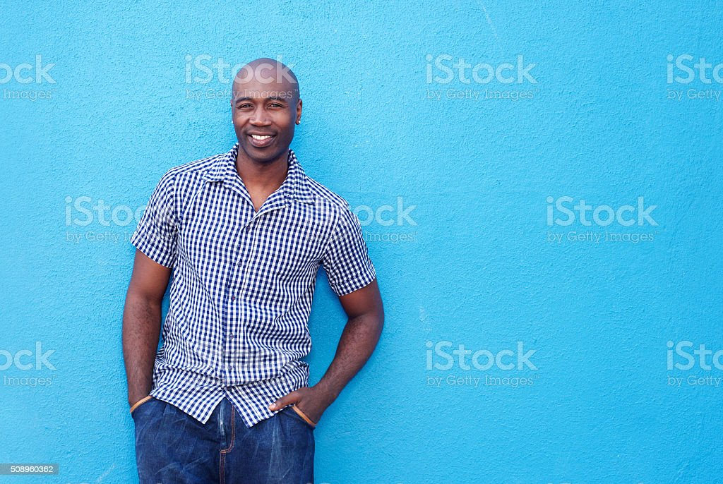 Attractive cool african guy stock photo