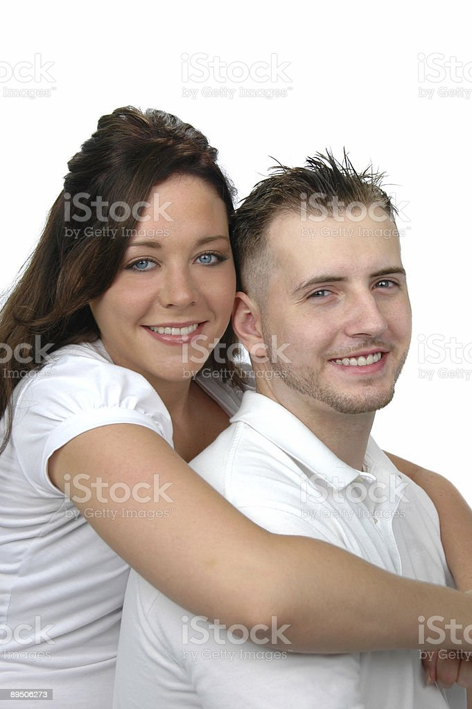 Beau couple embrassant photo libre de droits