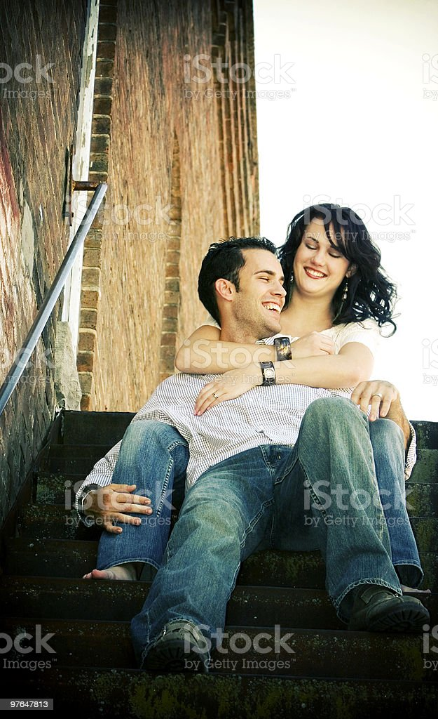attractive couple portraits royalty-free stock photo