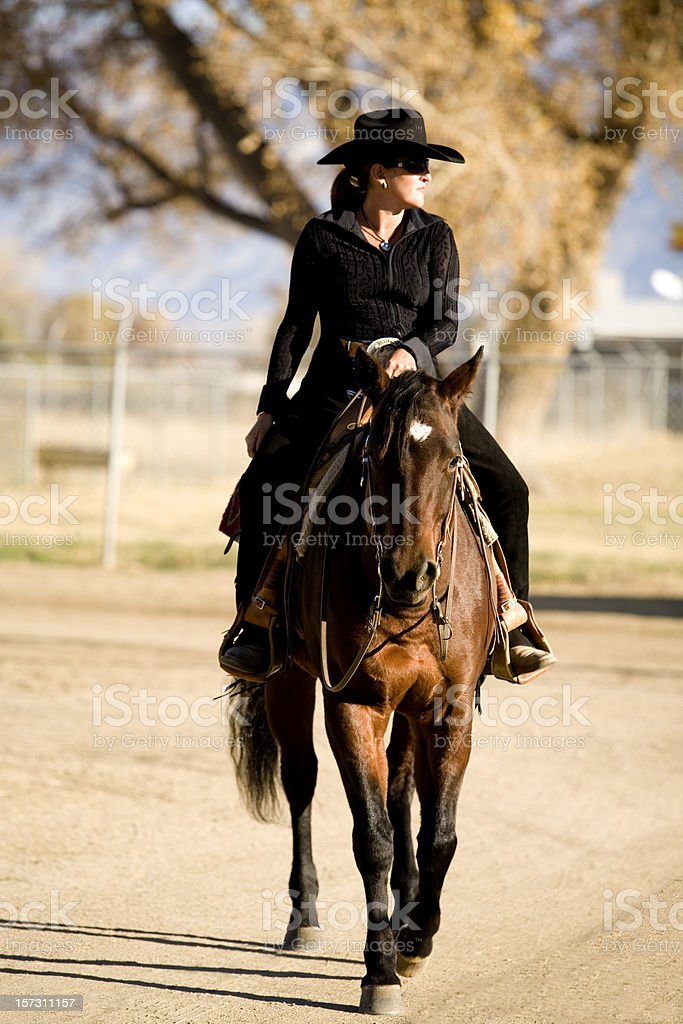 Attractive Cowgirl royalty-free stock photo