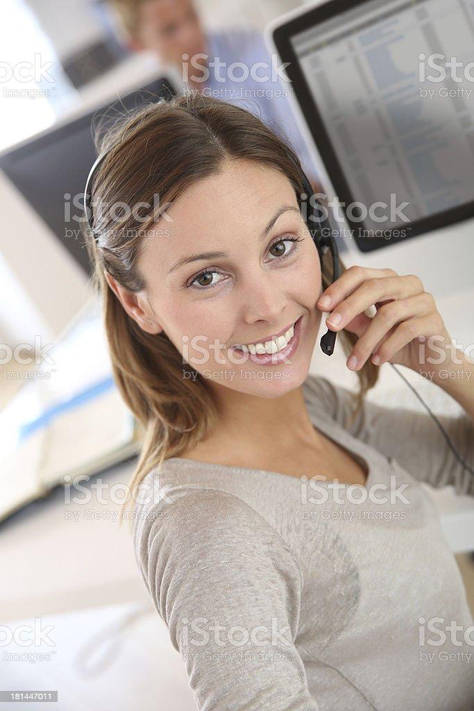Attractive customer service representative stock photo