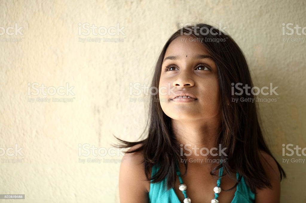 Attractive Cute Little Girl Thinking Stock Photo Download Image Now Istock