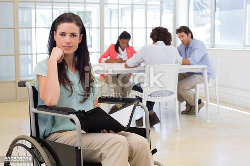 660681964istockphoto Attractive disabled businesswoman at work 832505724