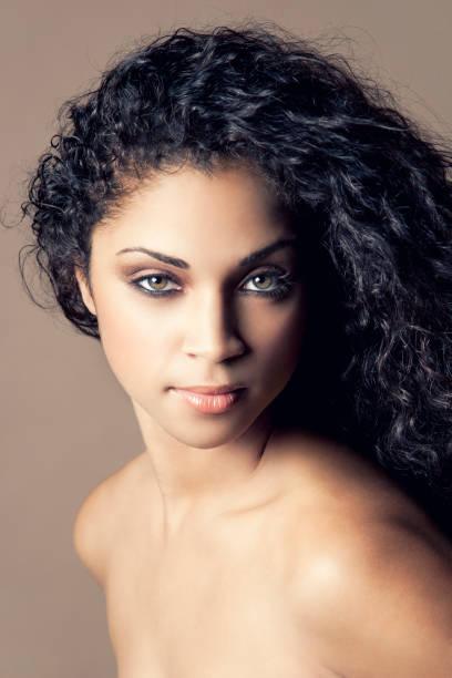 Attractive ethnic beauty stock photo
