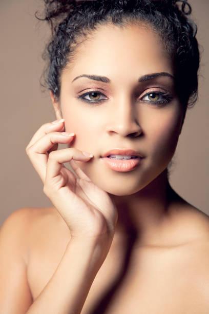 Attractive ethnic woman stock photo