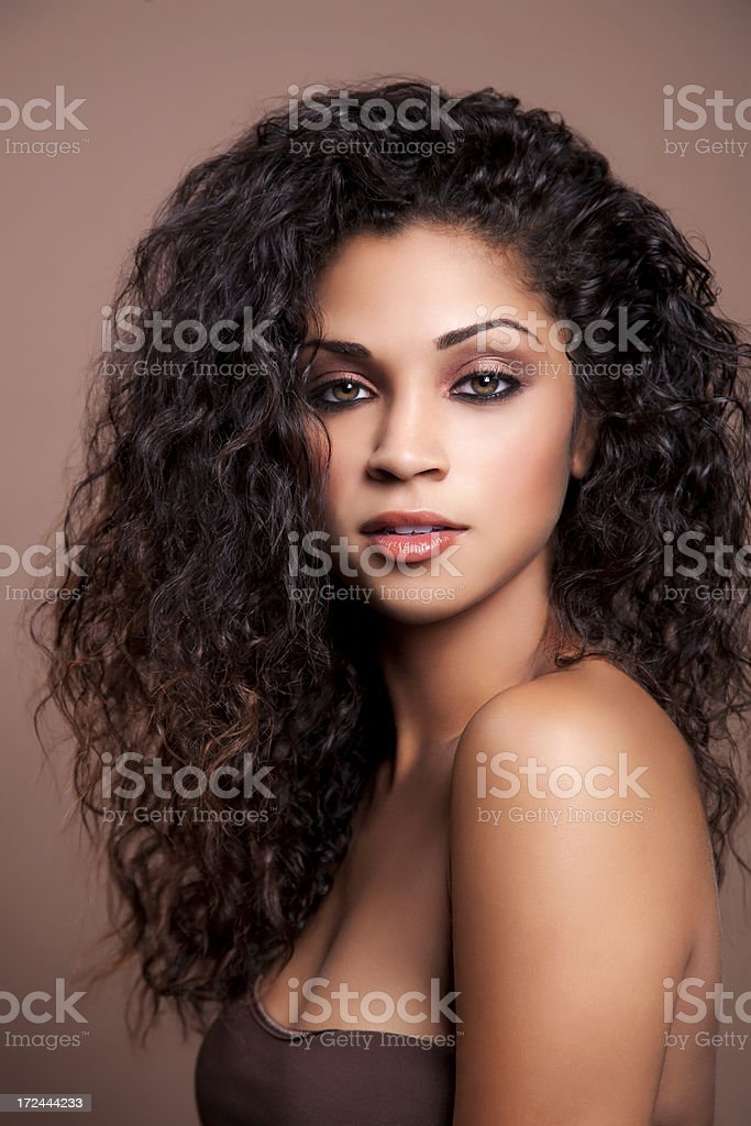 Attractive ethnic woman stock photo