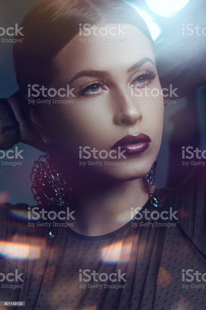attractive fashion model portrait stock photo