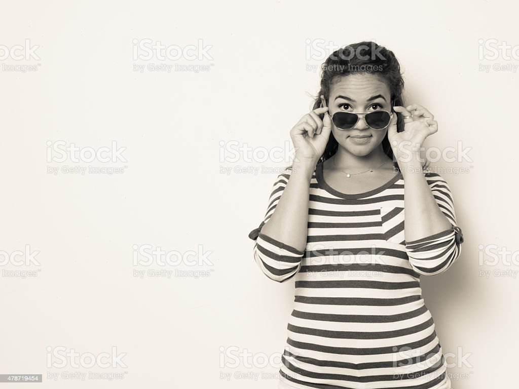 Attractive Fashionable Young Woman stock photo