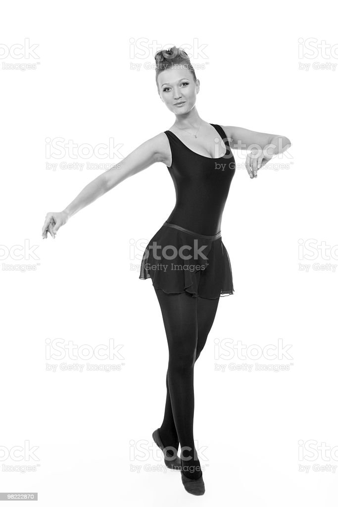 attractive female ballerina posing royalty-free stock photo