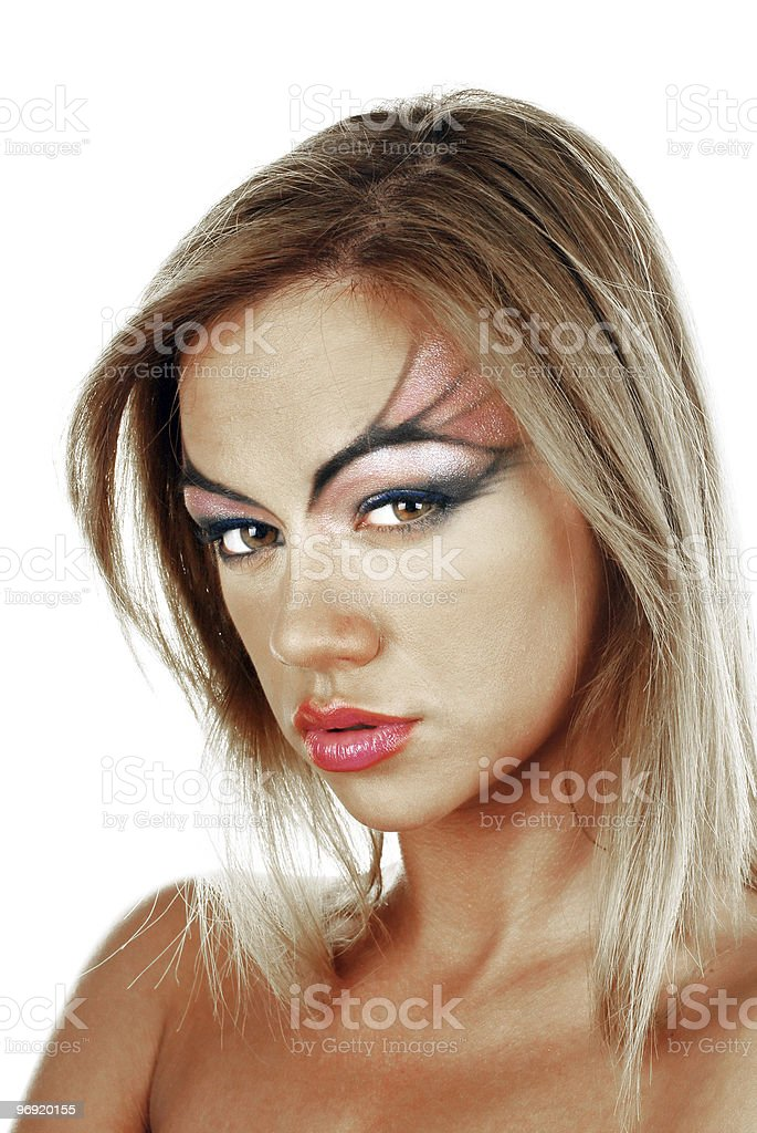 Attractive female blonde beauty royalty-free stock photo