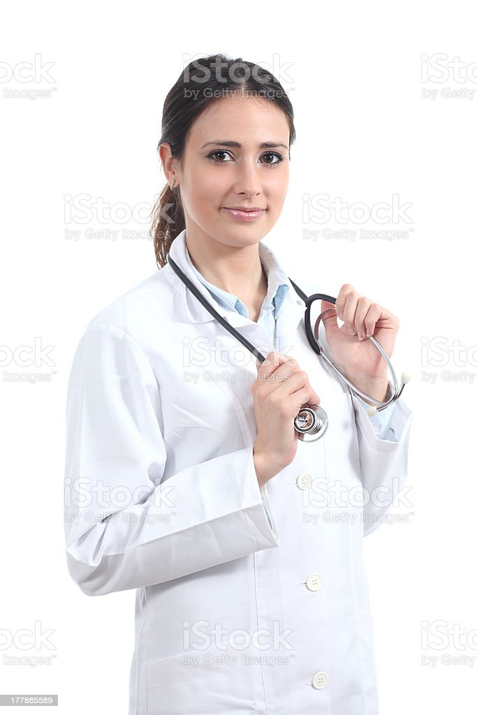 Attractive female doctor with a stethoscope royalty-free stock photo