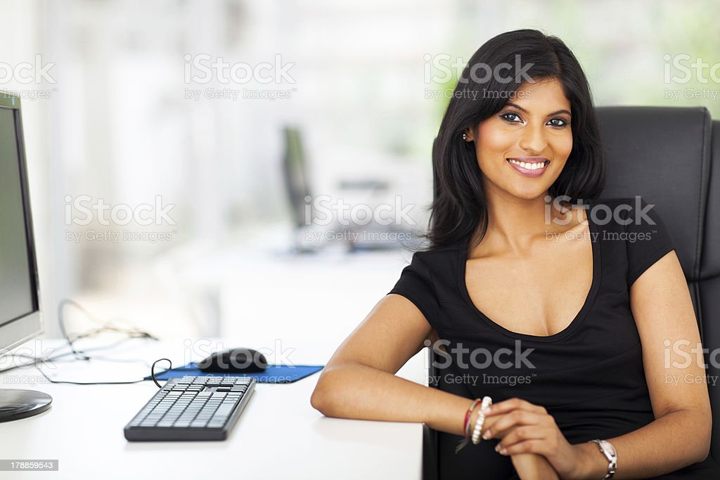 attractive female executive royalty-free stock photo