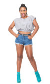istock Attractive female fashion model 466588113