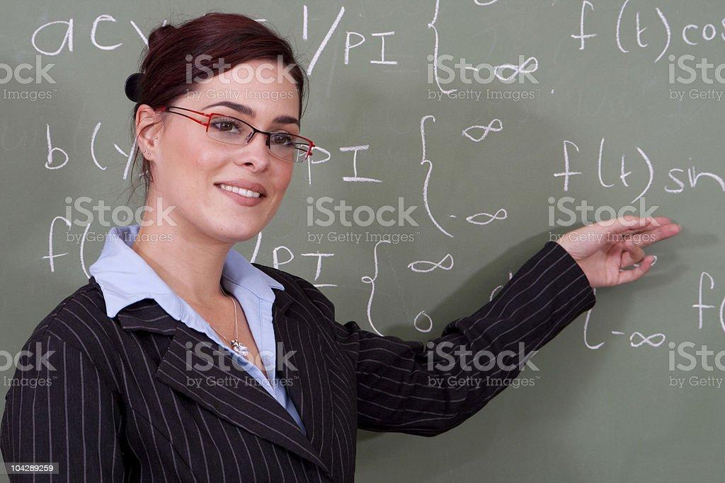 attractive female math teacher royalty-free stock photo