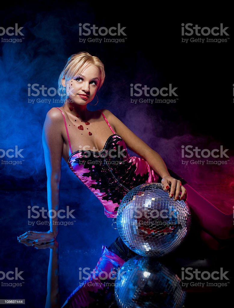 Attractive female on mirror royalty-free stock photo
