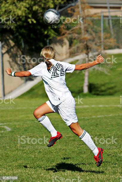 Attractive female soccer player positions under ball for flying picture id92801939?b=1&k=6&m=92801939&s=612x612&h=ocfshtm6qaor23mk52n7775dpjqgepaz06faqfc3umk=