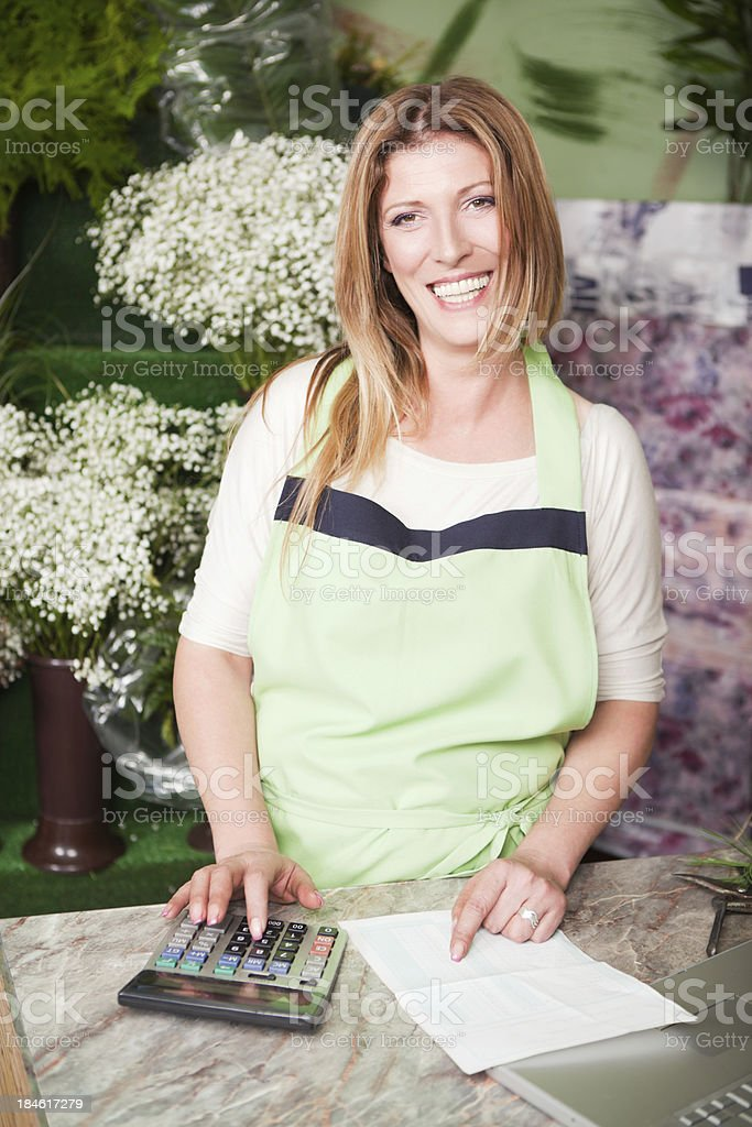 Attractive florist at work. royalty-free stock photo