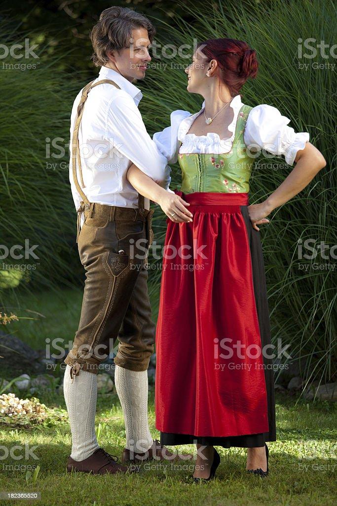 attractive folk dance couple stock photo