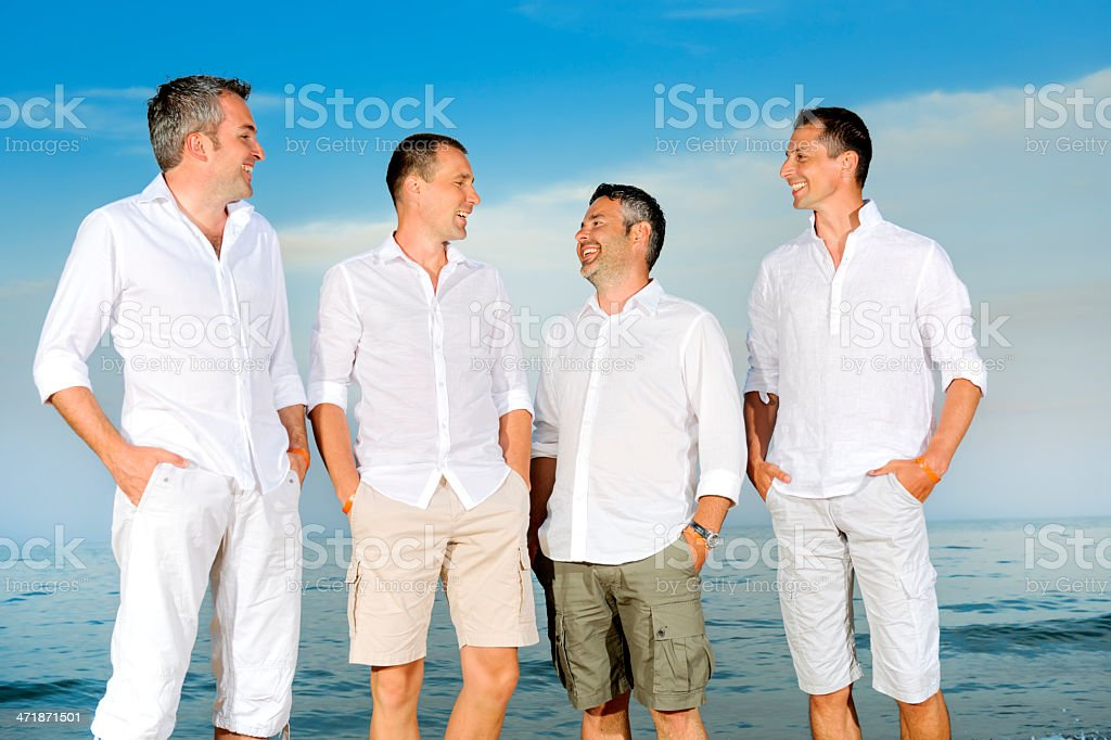 attractive friends royalty-free stock photo