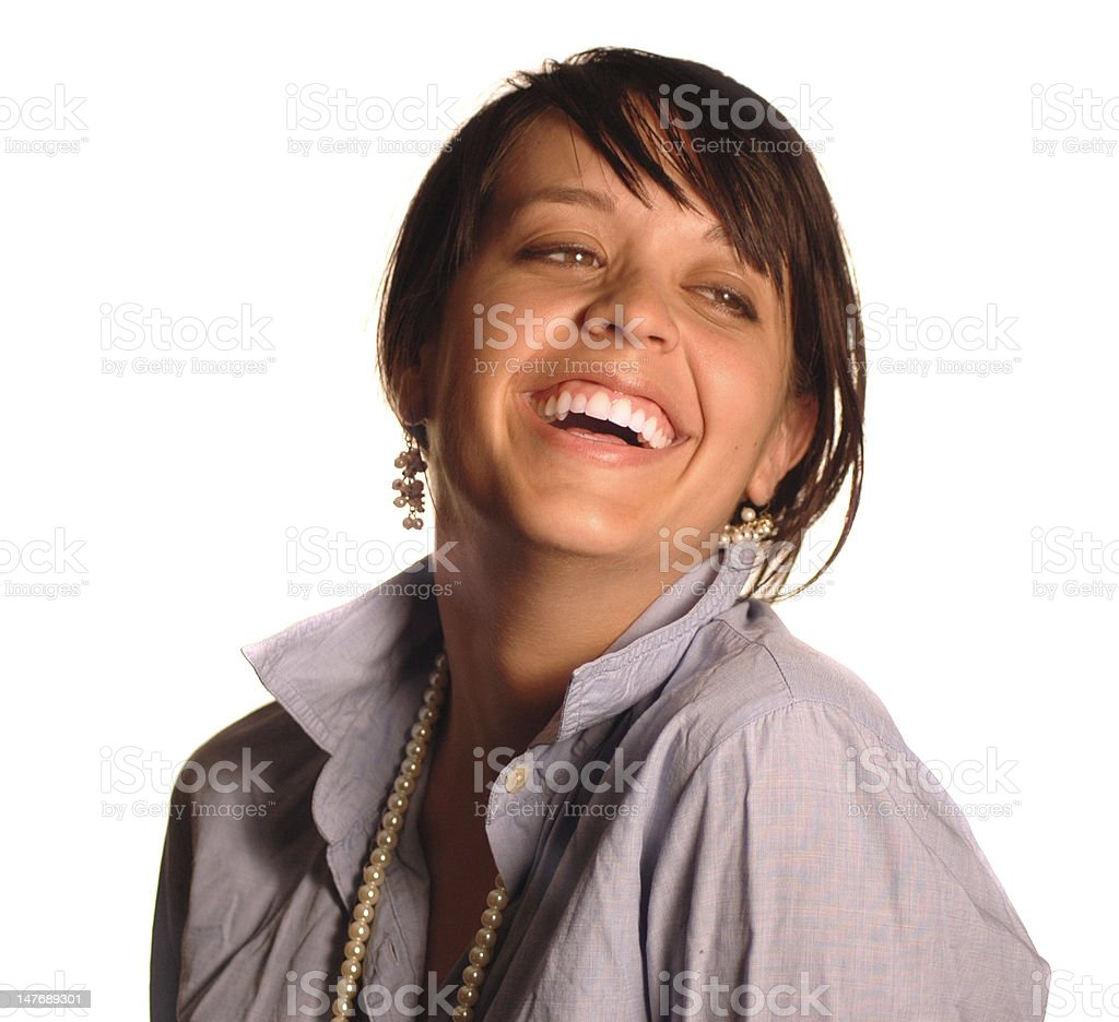 Attractive girl laughing royalty-free stock photo