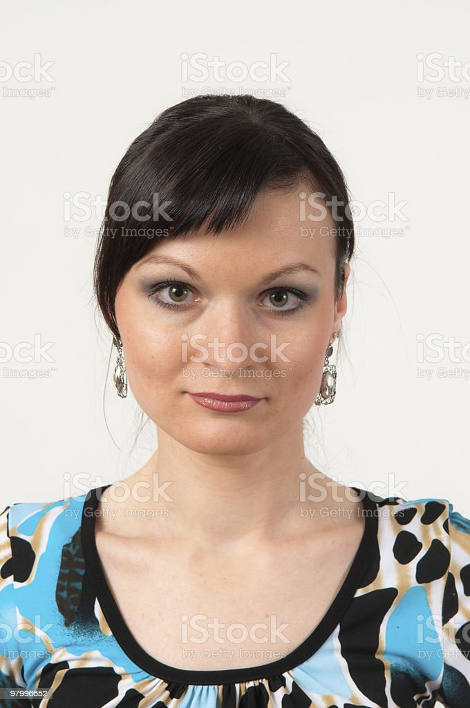 Attractive girl portrait royalty free stockfoto