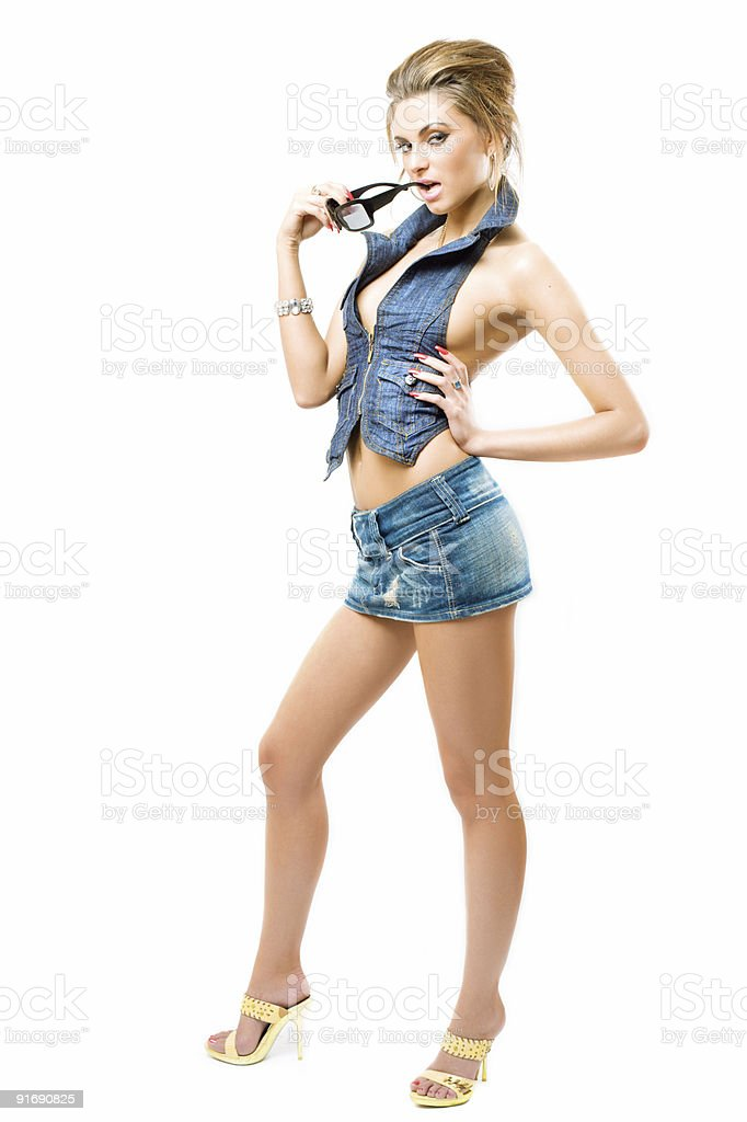attractive girl posing royalty-free stock photo