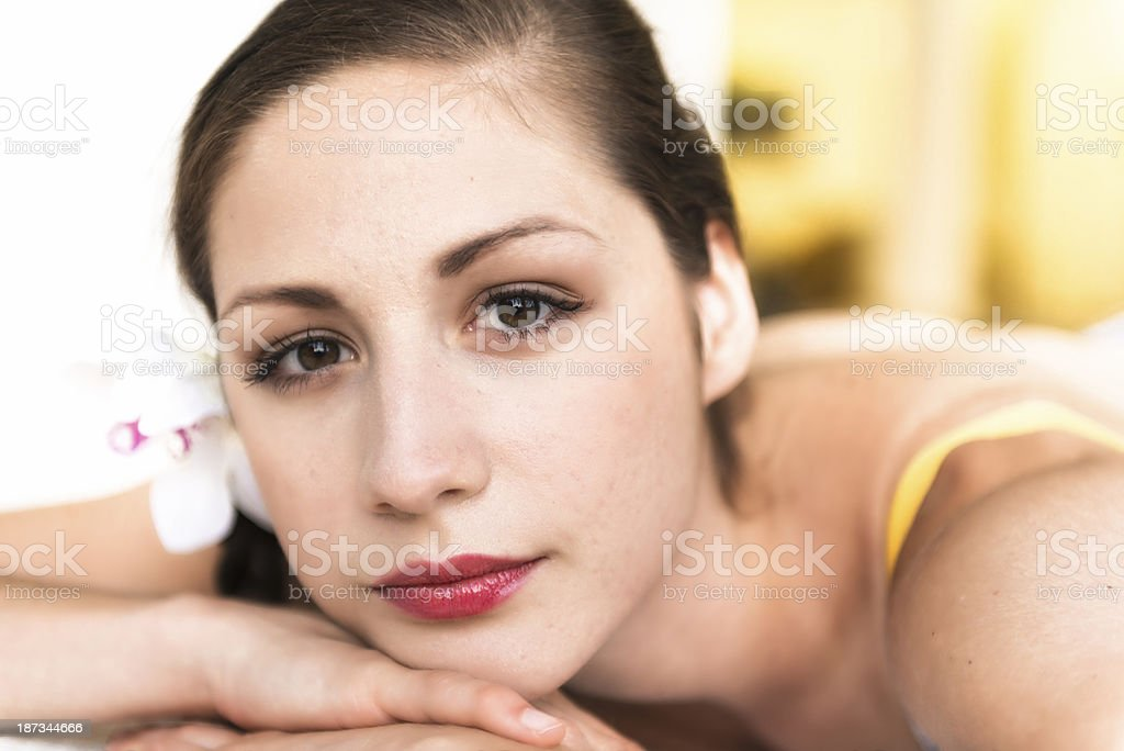 Attractive girl relaxing royalty-free stock photo