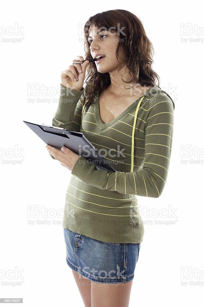 Atrakcyjny Dziewczyna myślenia zbiór zdjęć royalty-free