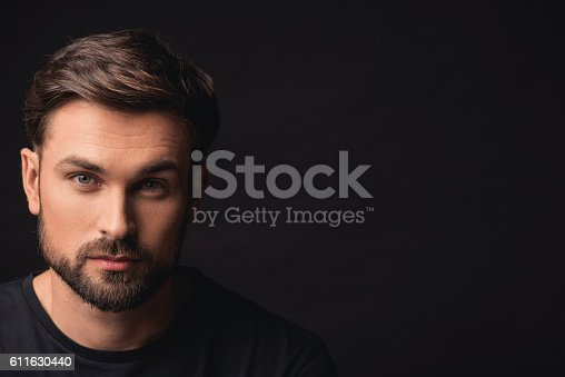 611630440 istock photo Attractive guy expressing his confidence 611630440