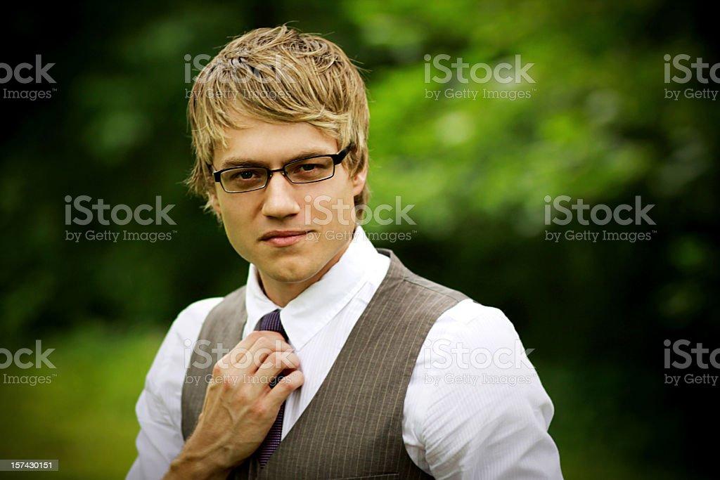 attractive guy portraits stock photo