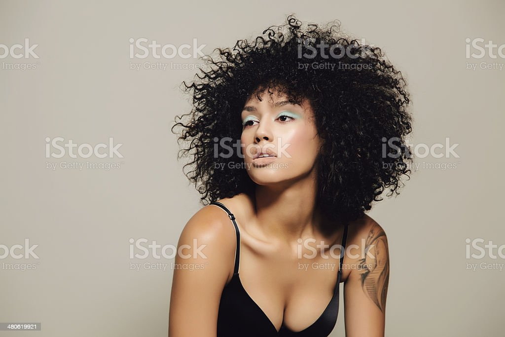 Attractive hair model stock photo