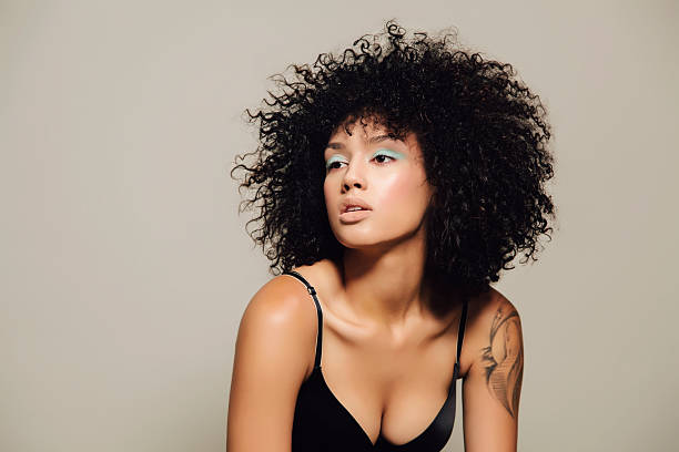 Attractive hair model stock photo
