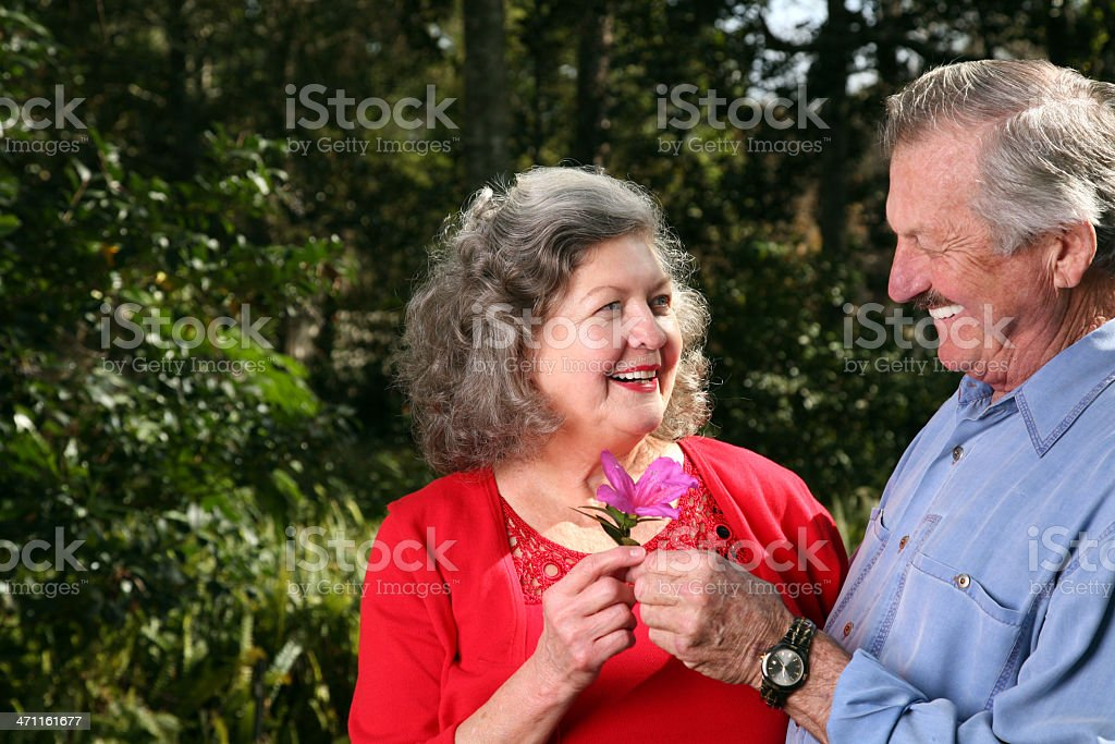 Attractive Happy Active Senior Couple in Love royalty-free stock photo
