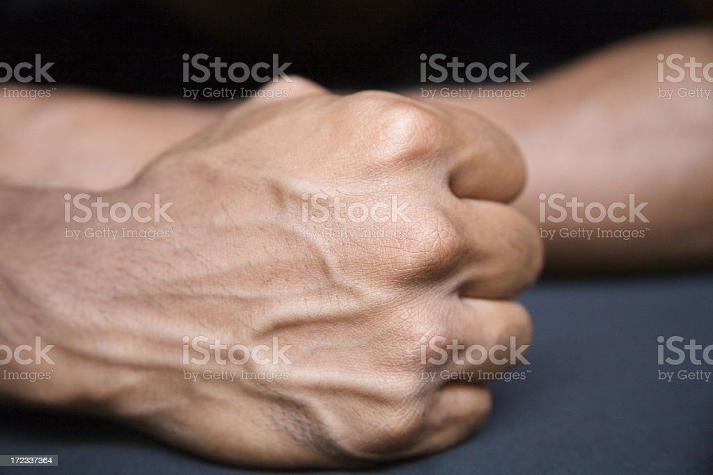 attractive male hand isolated royalty-free stock photo