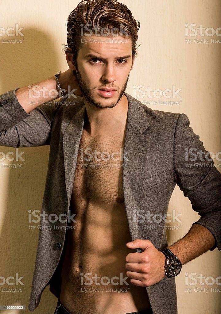 Attraktive Männliches Model Stock Fotografie Und Mehr Bilder Von