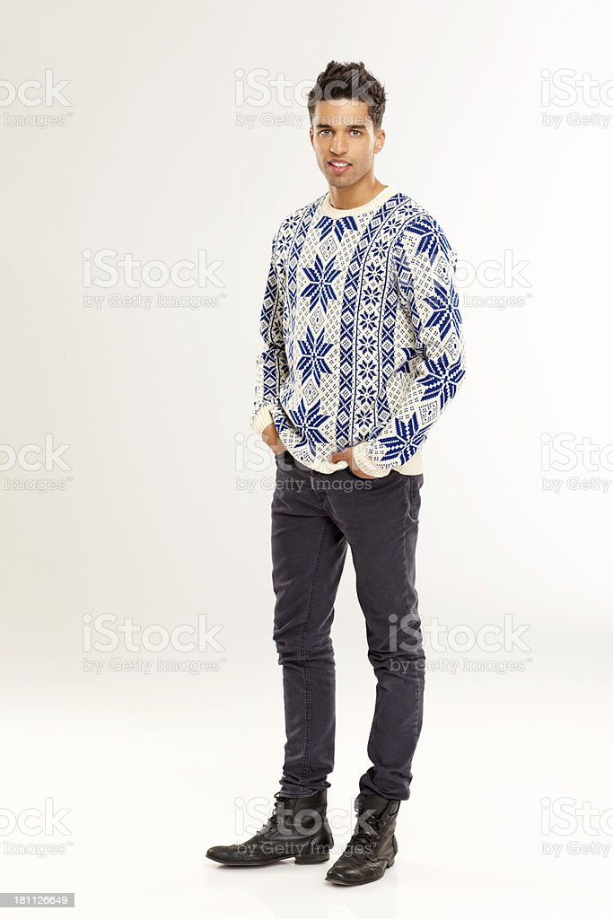Attractive Male Model Posing On White Stock Photo Download Image Now Istock