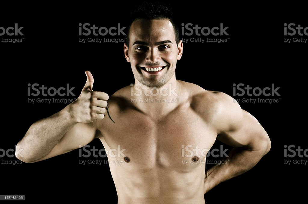 Attractive Male Thumbs Up royalty-free stock photo