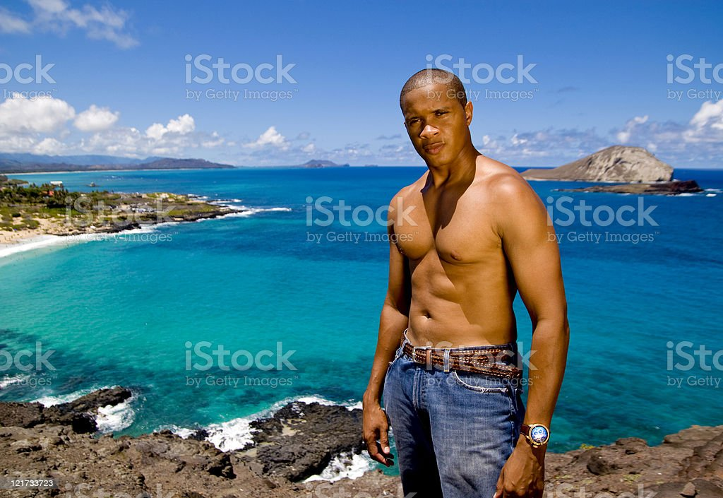 Attractive Man By the Ocean royalty-free stock photo