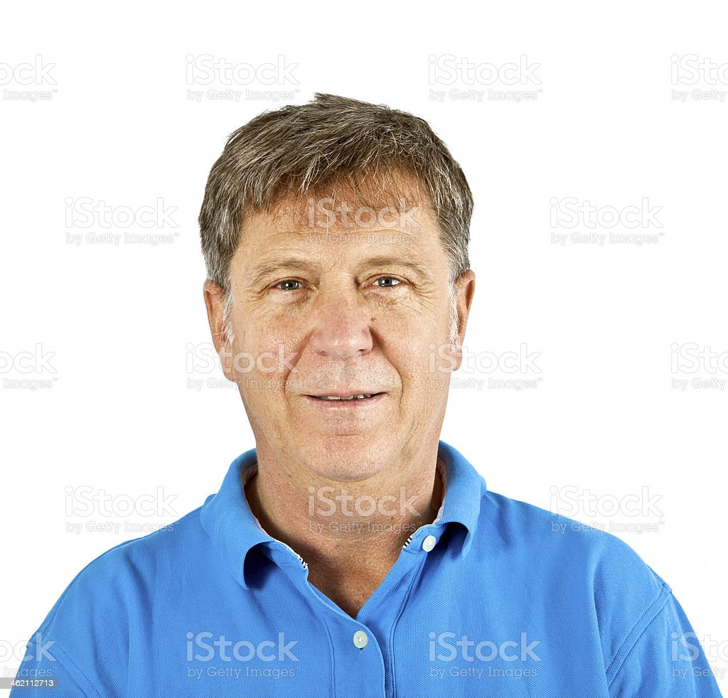 attractive man dressed casually in studio isolated on white stock photo