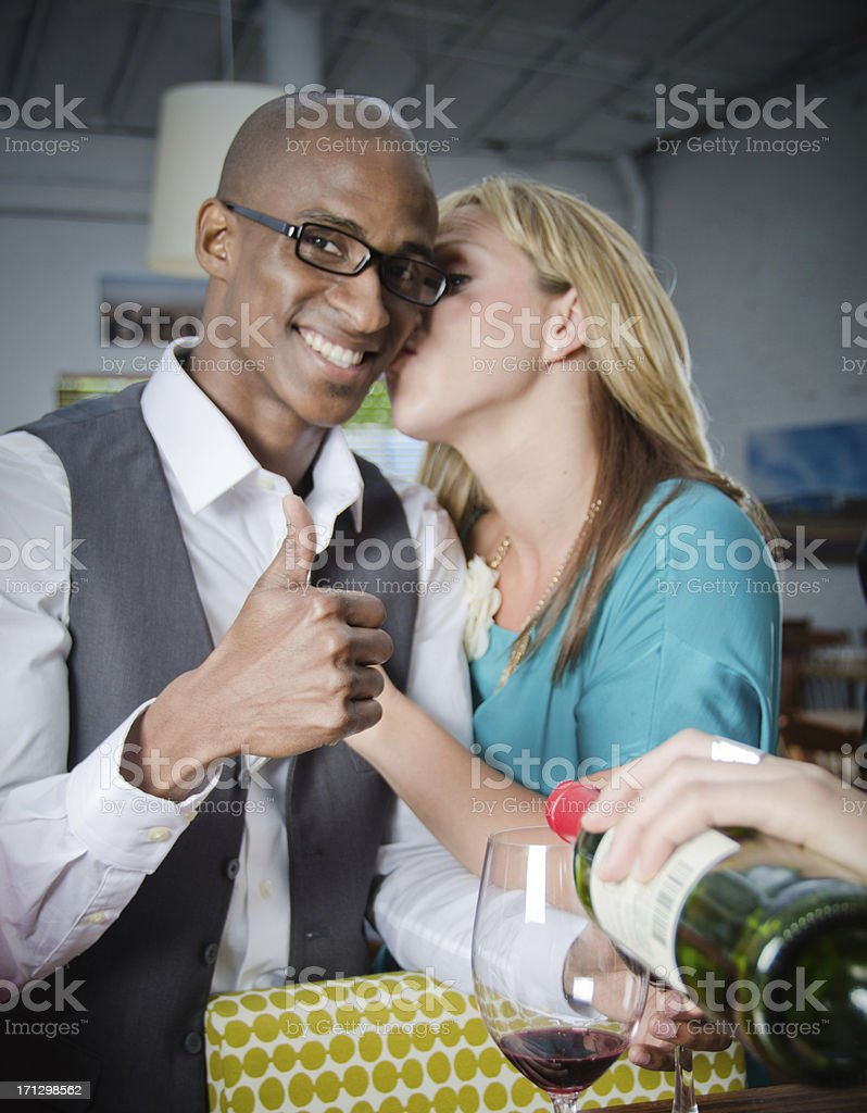 Attractive Man Having Fun In A Bar With His Girlfriend royalty-free stock photo