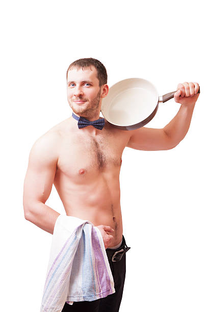 Beautiful Naked Male With A Bow Tie Stock Photos, Pictures
