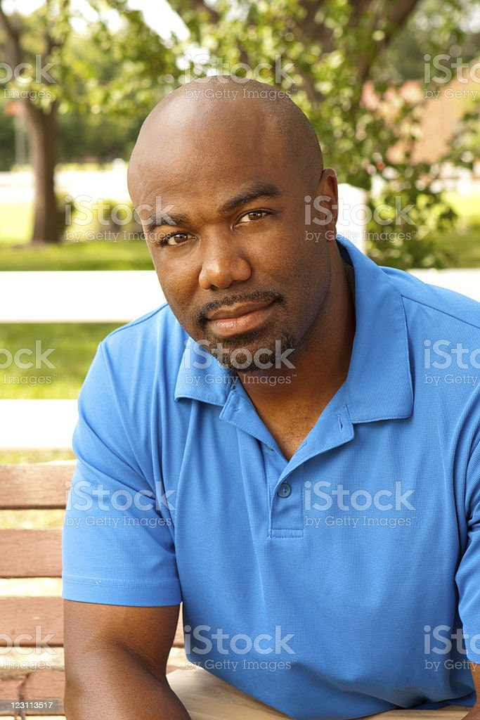 Attractive man in causal clothing royalty-free stock photo