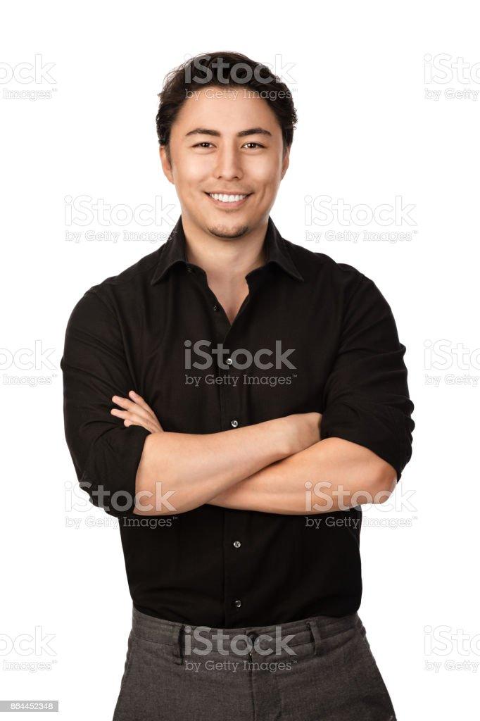 Attractive man portrait stock photo