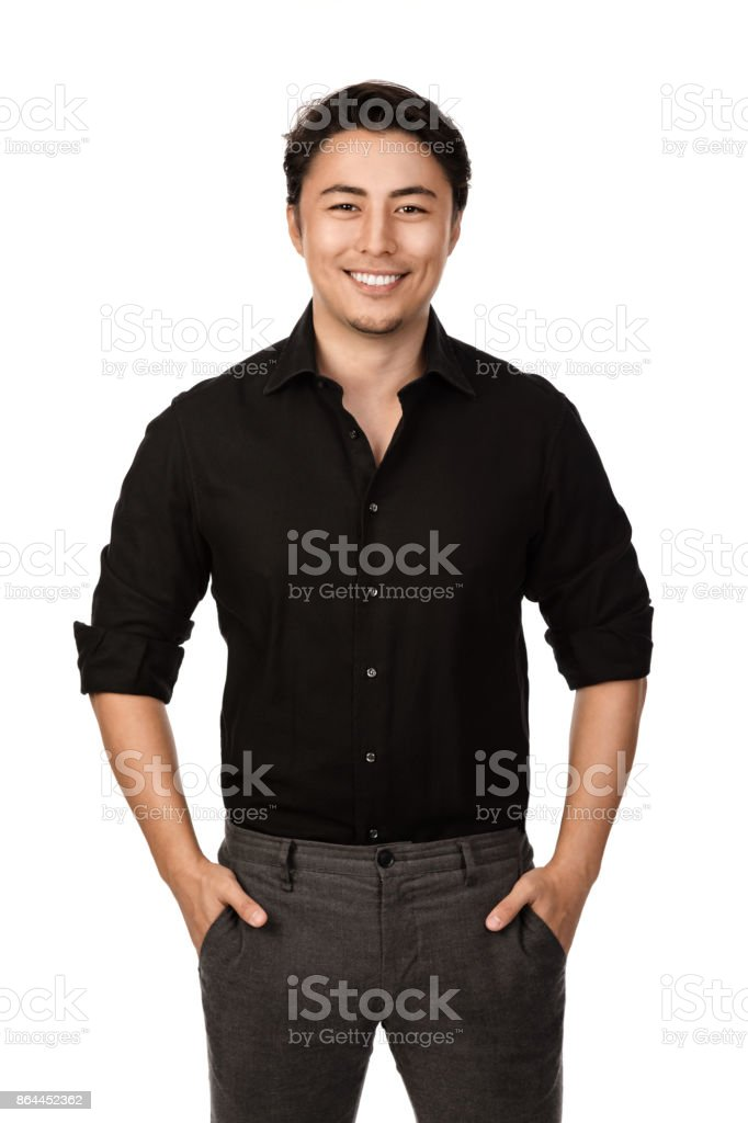 Attractive man portrait stock photo