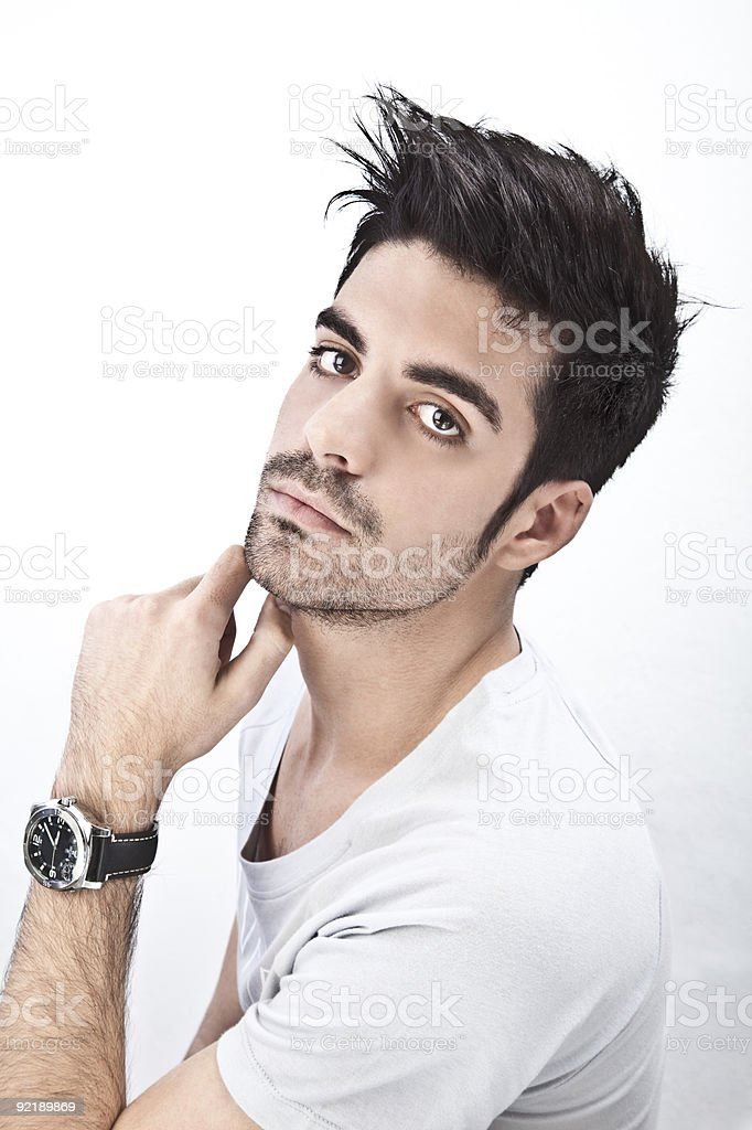 Attractive man portrait royalty-free stock photo