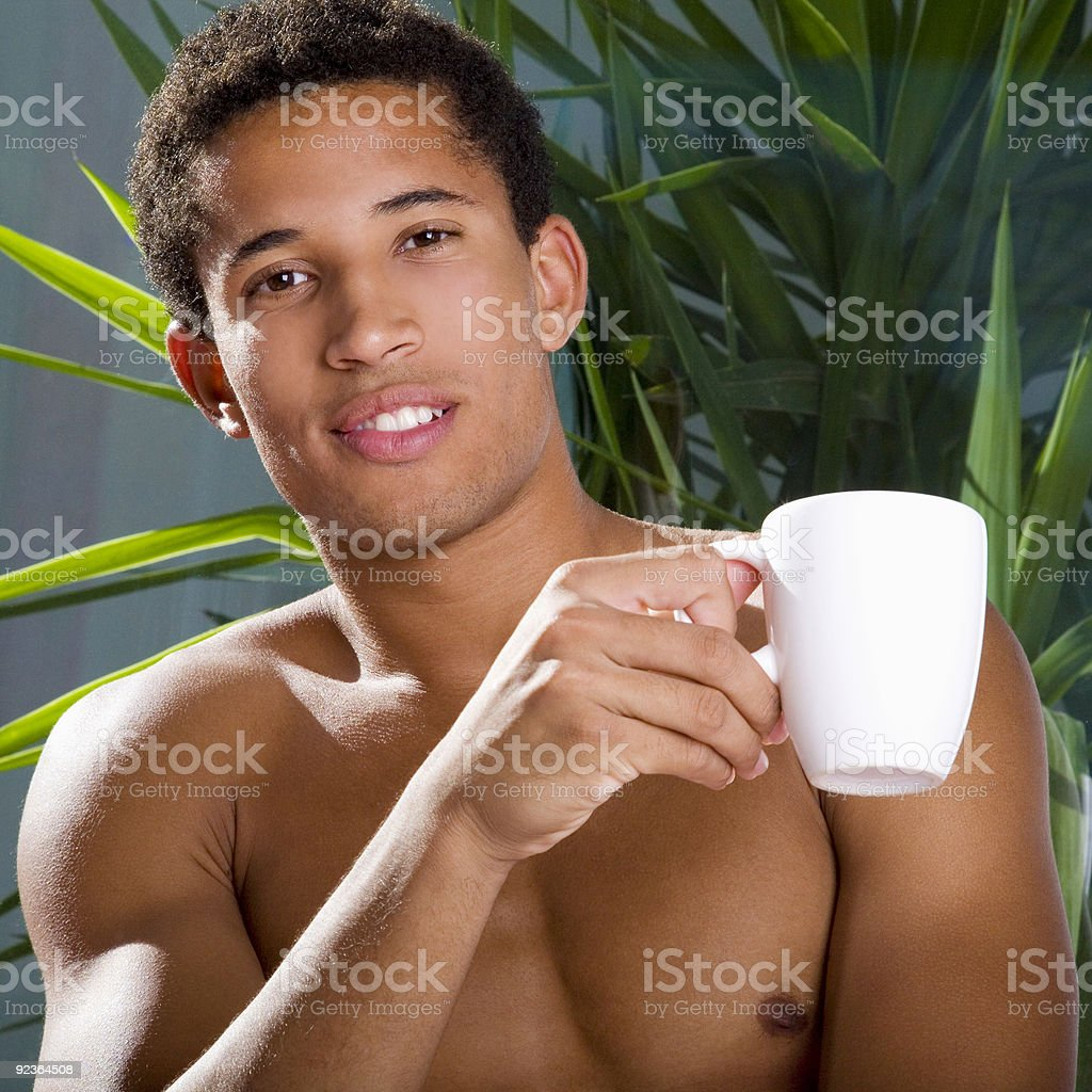 Attractive man with coffee royalty-free stock photo