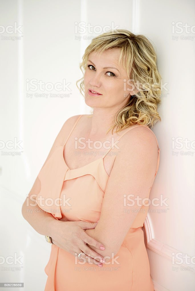 attractive mature adult woman royalty-free stock photo